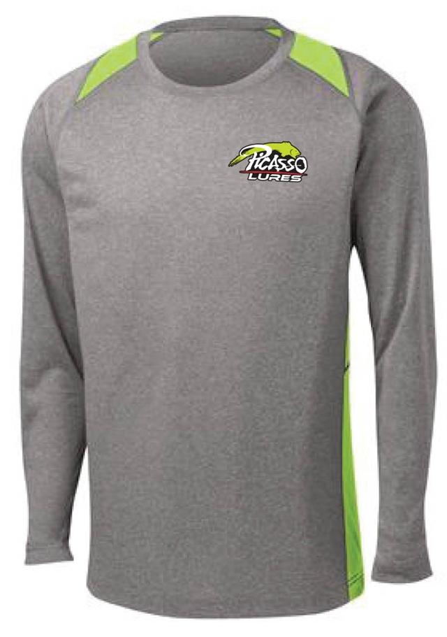 54ff5cbe Sport-Tek<sup>®</sup> Long Sleeve Heather Colorblock  Contender<sup>™</sup> Tee.